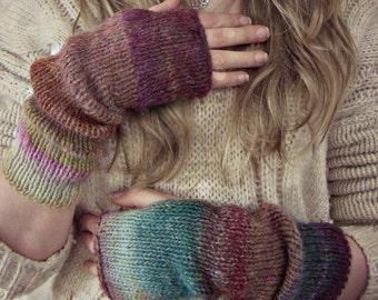 Fingerless Gloves | Boho Knit Arm Warmers | Fingerless Mittens | Knitted Boho Gloves | Long Arm Warmers |Slouchy  Arm Warmers | Fall Fashion