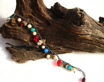 Beads and Butterflies Charm Bracelet
