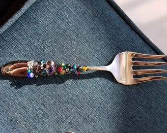 Jeweled serving fork