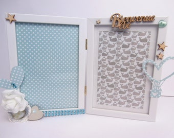 Frame - frame white - baby gift - baby birth congratulations gift