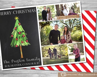 Christmas Photo Card / Holiday Photo Card / Back Side / Christmas Card / Holiday Card / Collage Card / Digital File