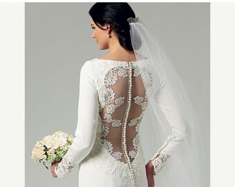 pattern Butterick 5779, Wedding Dress Sewing Pattern, New Uncut Pattern for Wedding Dress and Bridesmaids Dress, Sizes 12-20