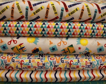 Crayola crayon fabric 5 yard bundle