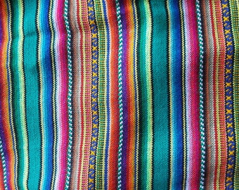 Aguayo fabric,Peru,Bolivia.ethnic,native,Cusco,Andes,decor,tablecloth,table runner,chic,hipster,South American Textile,tribal.quarters