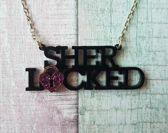 Sherlocked Necklace / Sherlock Holmes Unique TV Detective BBC Watson