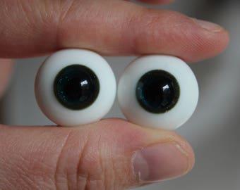 20mm Glass Eyes - Sparkly Dark Blue/Green - Fantasy