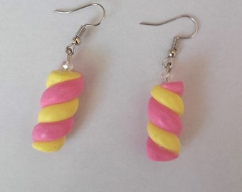 Earrings polymer jewelry gourmet marshmallows