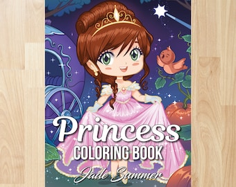 Princess Coloring Book by Jade Summer (Coloring Books, Coloring Pages, Adult Coloring Books, Adult Coloring Page, Coloring Books for Adults)