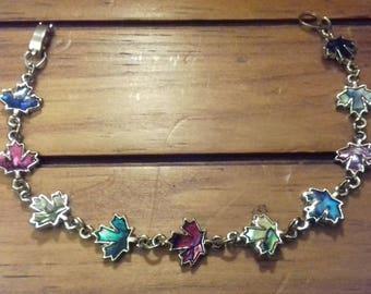 Autumn leafs bracelet