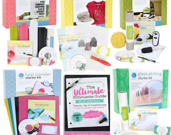 Beginner Starter Kit Bundle with Ultimate Silhouette Cameo Guide Book
