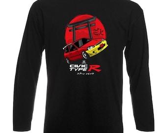 Honda Civic EK9 Longsleeve Shirt T-Shirt