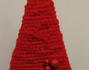 Christmas decoration - Red wool fir
