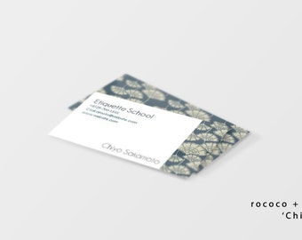 Kawaii business card etsy business card template instant download easy editing japanese modern simple colourmoves