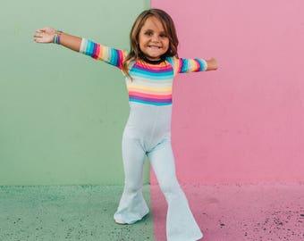 Pastel Rainbow Disco Romper
