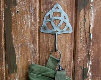 Triquetra Metal Wall Hook / Trinity Hook by WATTO Distinctive Metal Wear/ Towel Hook/ Coat Hook/ Irish/ Celtic/ Dog Leash Hook/Key Hook