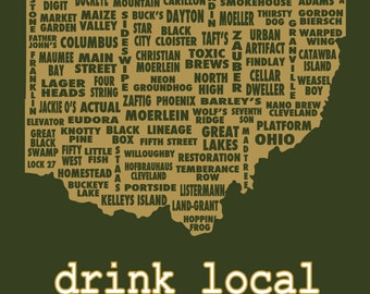 Drink Local- Ohio Beer T-shirt