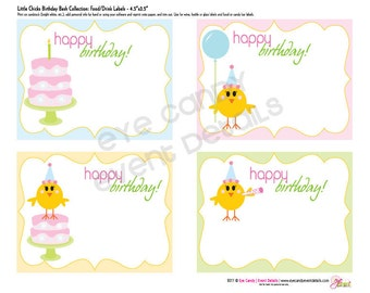 Little Chicks Birthday Bash -  DIY Printable Collection - Chicks Birthday - First Birthday