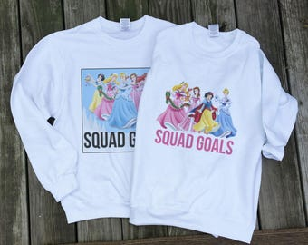 Holiday Winter Christmas Princess squad goals Sweatshirt - kids and adults - jumper pullover sweater