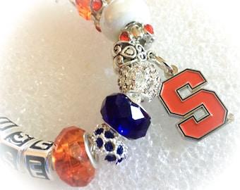 University of Syracuse Jewelry bracelets inspired handmade. Fabulous upscale quality. all inspired