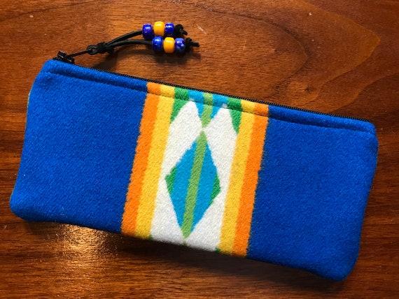 Wool Sunglasses Case / Glasses  Case / Tampon Case / Zippered Pouch San Gabriel