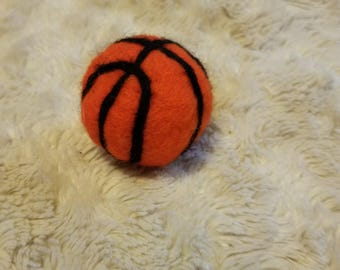 Newborn Basketball - Felted Basketball - Basketball Photo Prop - Sports Photo Prop