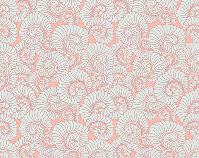 Half Yard Drift - Feathered Coral in Light - Cotton Quilt Fabric - from Angela Walters for Art Gallery Fabrics (W1698)