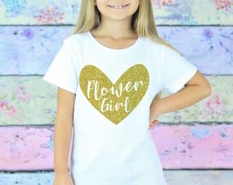 Flower Girl Shirt - Wedding Rehearsal - Flower Girl Gift - Petal Patrol - Bridesmaid Gift - Glitter Flower Girl