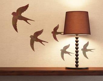 CraftStar Swallows Stencil - A4 Reusable Birds Stencil