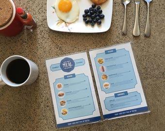 Breakfast Restaurant Menu For Kids Kitchen Pretend Play - Toddler Accessories - Unique Toys