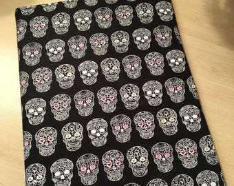 Sugar Skull Journal-Notebook Included-Refillable-Black-Red