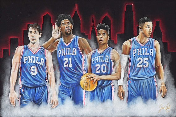 Philadelphia 76ers sixers art print trust the process - Trust the process wallpaper ...