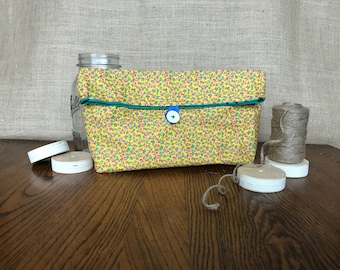 Yellow Floral Fold Pouch