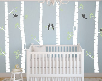 Woodland Wall Decal Etsy - Nursery wall decals ukbaby nursery wall decor uk baby room wall art uk grey and yellow