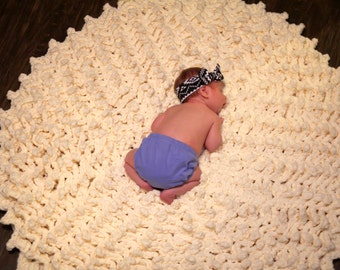 """Ready to Ship 40"""" Giant Round Rug Chenille Extra Thick Soft Washable Baby Playmat Kitchen Bath Mat Area Rug Accent Rug Nursery Shower Gift"""
