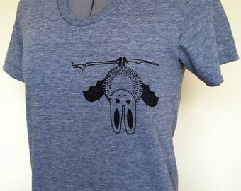 Baby Bat Womens T Shirt-graphic tee for women-gift for her-goth grey tshirt