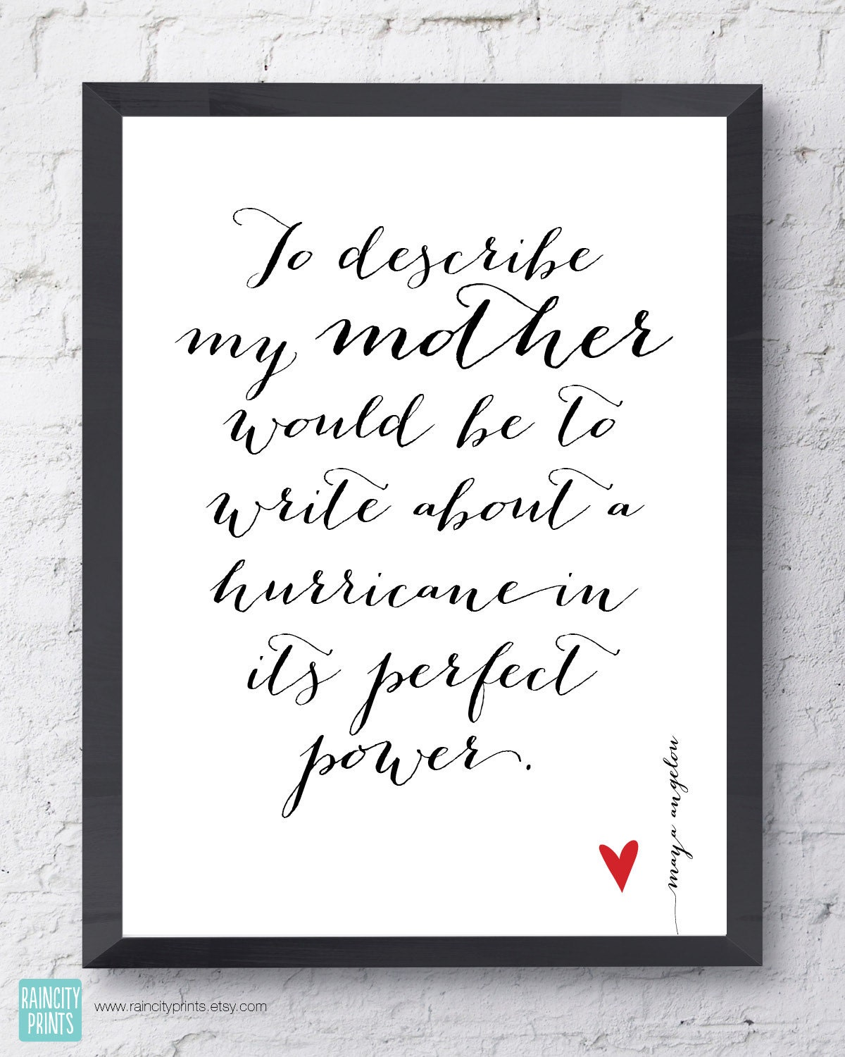 Wedding Day Quotes Maya Angelou Mother Quotemother's Day Gift.