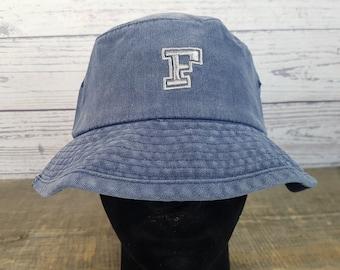 Vintage 90s FILA Bucket Hat / 100% Cotton Fisherman Hat / Summer Cottage Lake Hat