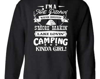 On Sale - Tent Pitchin' Camping Kind of girl