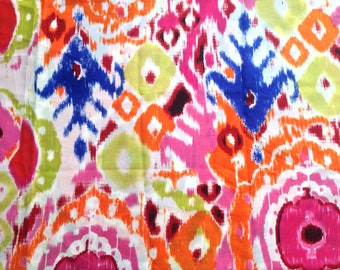 Cotton Bastiste, 1 1/8 Yards, Pink & White, Abstract Print