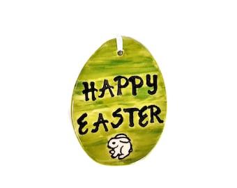 Ceramic Easter egg, Easter, Handmade,Hand painted ceramic Easter egg, Spring home decor, Easter egg hunt, Easter ornament, Easter decor