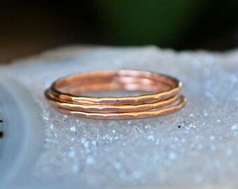 Rose Gold Rings - The Skinny Stack 4 Rings