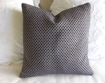 Chenille decorative Pillow Cover 18x18 20x20 22x22 24x24 26x26 navy