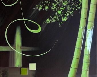Abstract painting / abstract bamboo