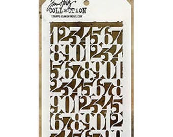 Tim Holtz COUNTDOWN Stencil - STAMPERS ANONYMOUS---THS058