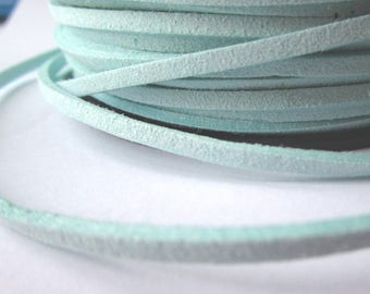 5 m cord - Mint green - 3 mm