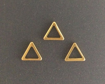 10pcs  Gold filled Triangle Pendant Charm Link 8mm , Gold Triangle Charms , Gold fill Triangle Pendant , gold fill Geometric Charms