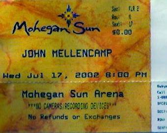 JOHN MELLENCAMP CONCERT Ticket (2002)