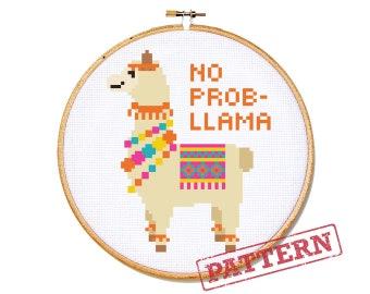 No Prob- Llama Cross Stitch Pattern