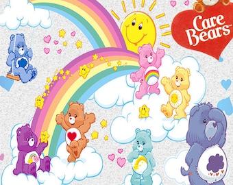 Care Bears clip art,Care Bears clipart,Care Bears png,Care Bears party,Care Bears birthday,Care Bears invitation,Care Bears printing,