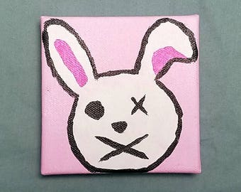 Borderlands Tiny Tina inspired bunny painting mini canvas FREE SHIPPING